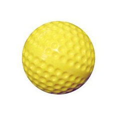 Molded Plastic Practice Field Hockey Ball - Yellow