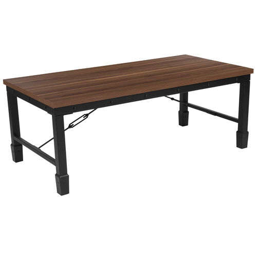 Our Brentwood Collection Rustic Walnut Finish Coffee Table with Industrial Style Steel Legs is on sale now.