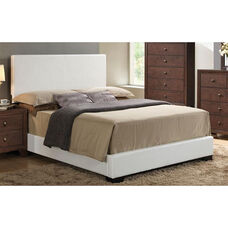 Ireland III Faux Leather Panel Bed - Full - White