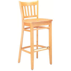 1851 Bar Stool w/ Wood Saddle Seat