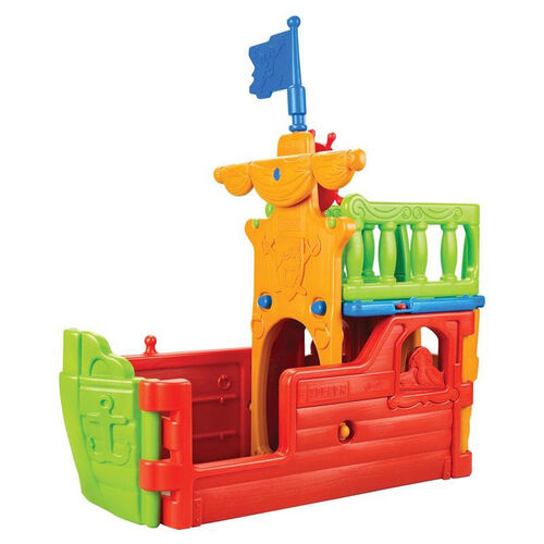 Our Indoor Outdoor Fade and Weather Resistant Plastic Buccaneer Boat Play Center is on sale now.