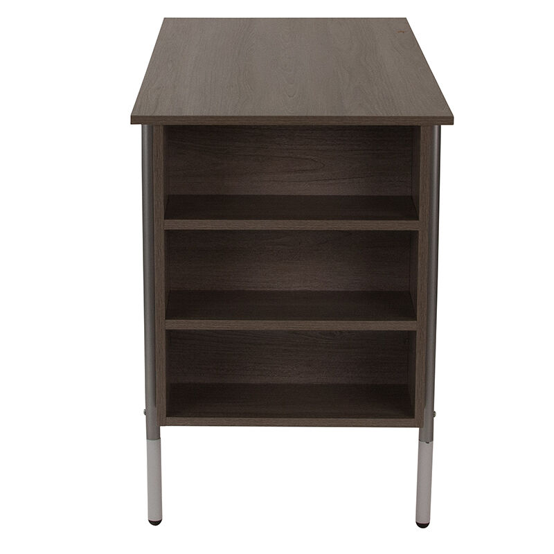 Beau Our Hillside Light Applewood Finish Computer Desk With Side Storage Shelves  Is On Sale Now.