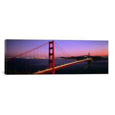 Night Golden Gate Bridge San Francisco CA USA by Panoramic Images Gallery Wrapped Canvas Artwork