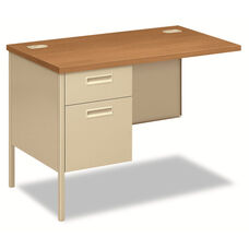 HON® Metro Classic Series Workstation Return - Left - 42w x 24d - Harvest/Putty