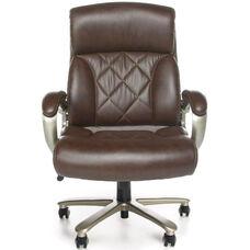 Avenger 400 lb Capacity Big & Tall Executive Chair - Brown