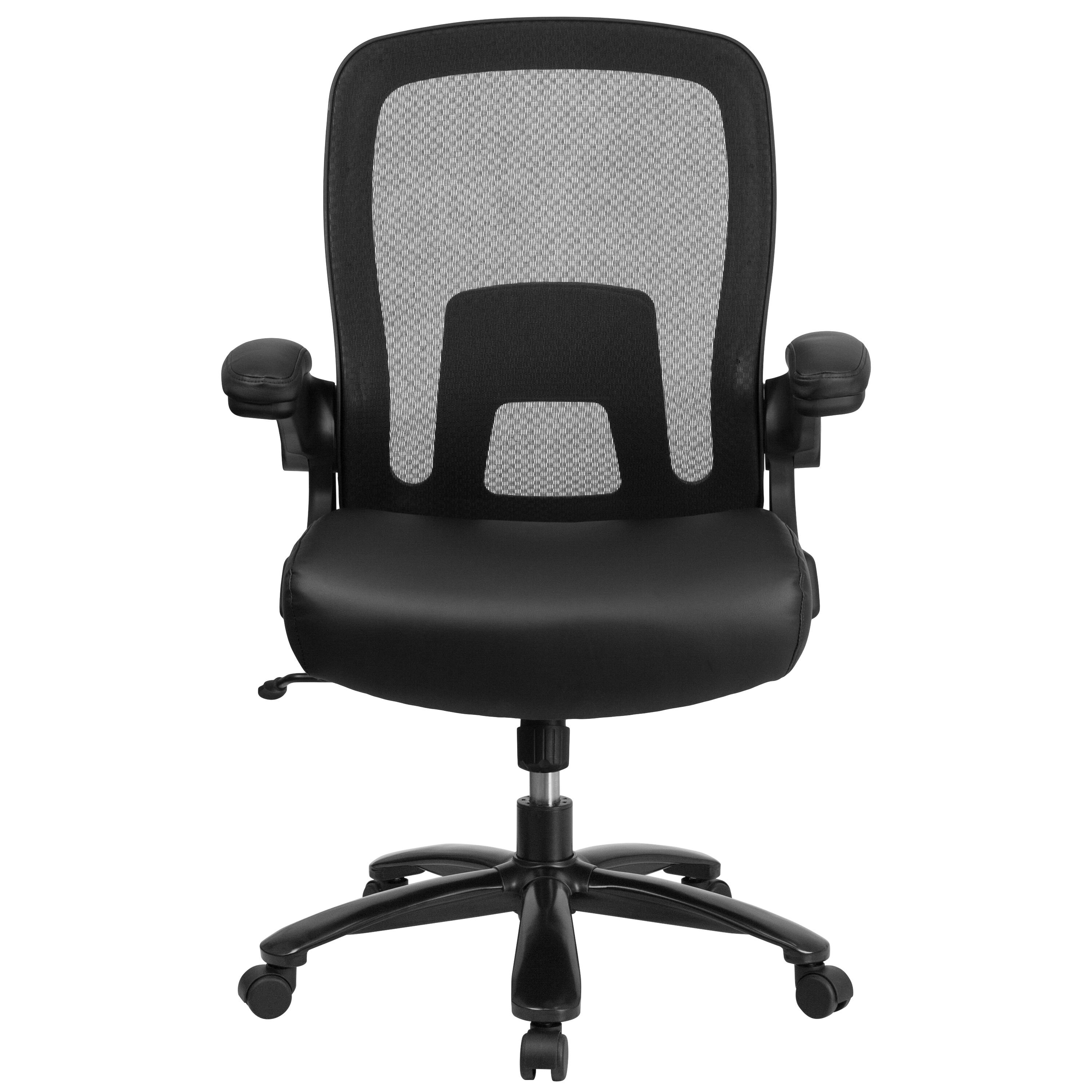 Etonnant ... Our HERCULES Series Big U0026 Tall 500 Lb. Rated Black Mesh Executive Swivel  Chair With