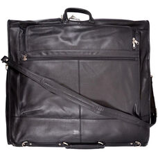 Carry on Leather Suiter - Milano Top Grain Leather - Black