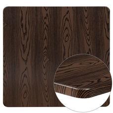 "42"" Square Rustic Wood Laminate Table Top"