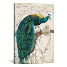 Les Paons by Color Bakery Gallery Wrapped Canvas Artwork with Floating Frame - 19