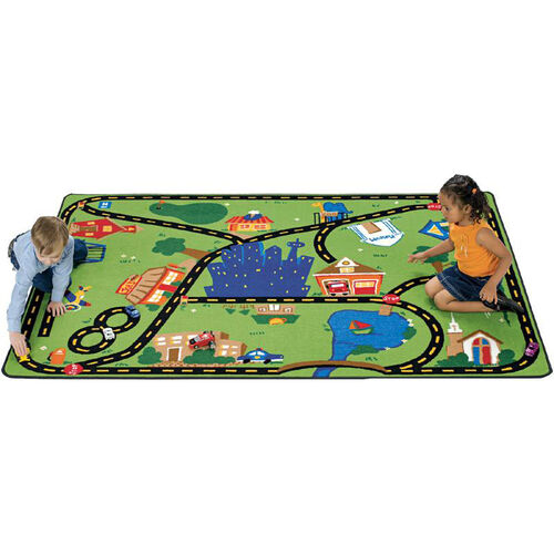 Our Crusin Around The Town Interactive Roads Rectangular Nylon Rug - 46