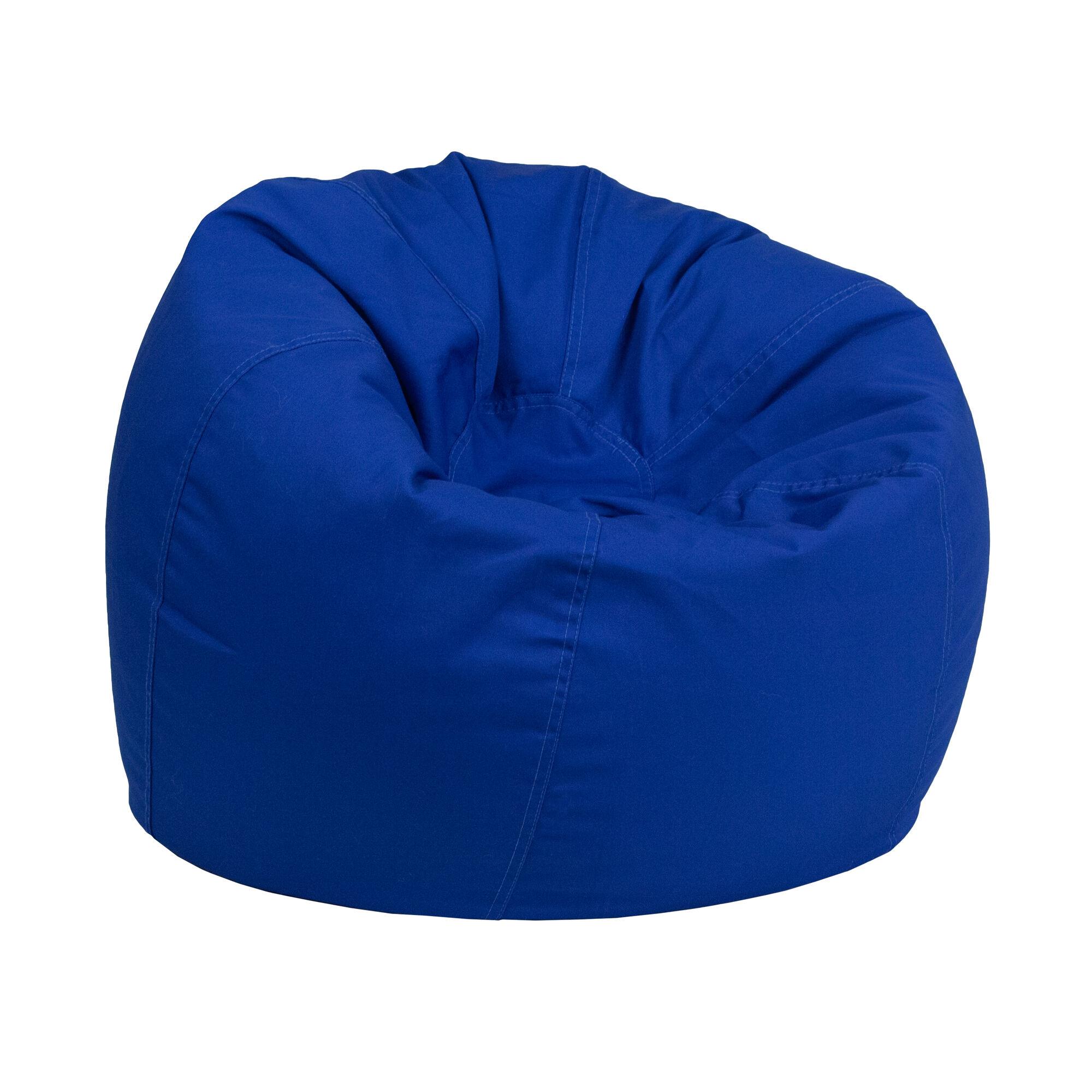 royal blue bean bag chair dg bean small solid roybl gg. Black Bedroom Furniture Sets. Home Design Ideas