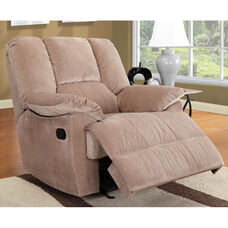 Oliver Transitional Style Corduroy Glider Recliner with Hand Latch - Mushroom