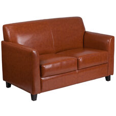 HERCULES Diplomat Series Cognac LeatherSoft Loveseat