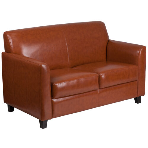 Our HERCULES Diplomat Series Cognac LeatherSoft Loveseat is on sale now.