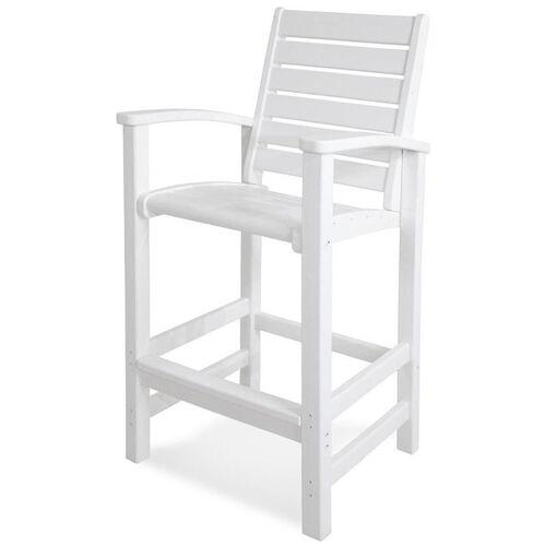 Our POLYWOOD® Signature Bar Chair - White is on sale now.