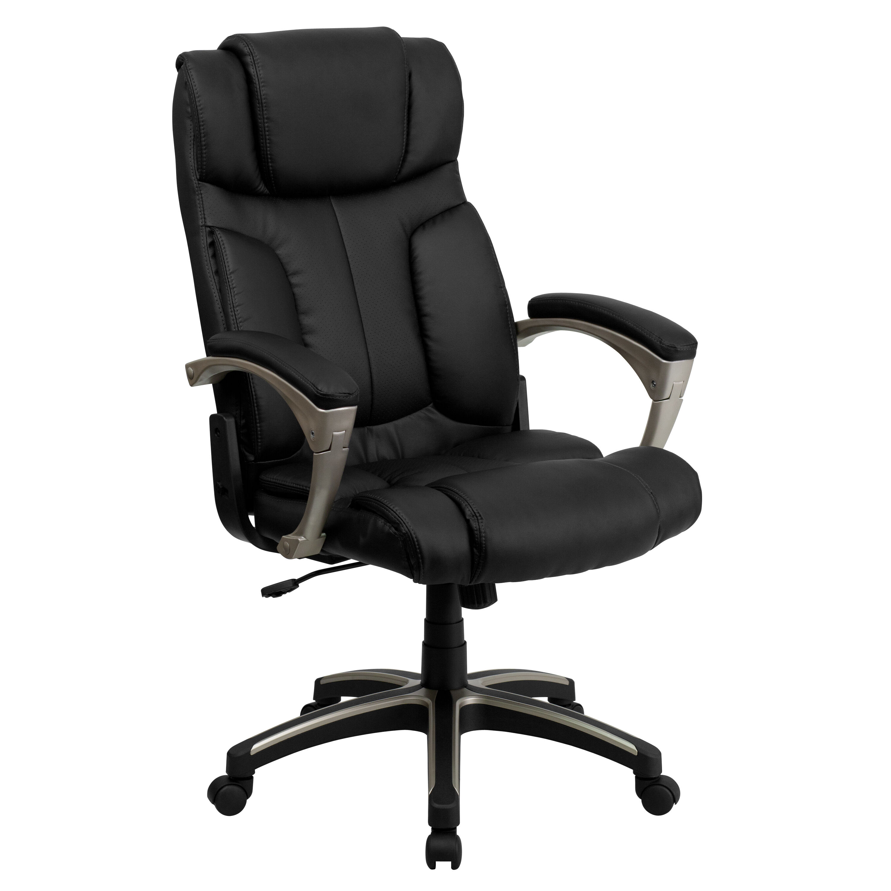 ... Our High Back Folding Black Leather Executive Swivel Chair With Arms Is  On Sale Now.