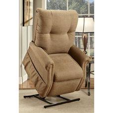 Economy Model Two Way Reclining Power Lift Chair with Magazine Pocket - Dawson Tan Fabric