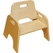 Ready to Assemble Stackable Wooden Toddler Chair - Natural Finish