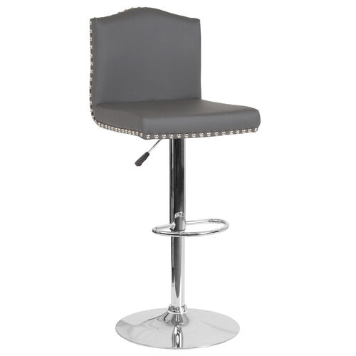 Our Bellagio Contemporary Adjustable Height Barstool with Accent Nail Trim in Gray Leather is on sale now.