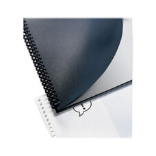 Swingline Regency Round Corner Presentation Binding Cover - Opaque, Black