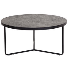 """Providence Collection 31.5"""" Round Coffee Table in Concrete Finish"""
