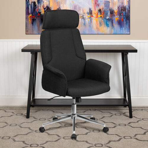 High Back Desk Chair | Upholstered Swivel Chair for Desk and Office