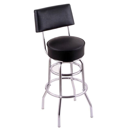 Our Classic Chrome Finish Swivel Stool with Black Vinyl Seat and Back is on sale now.