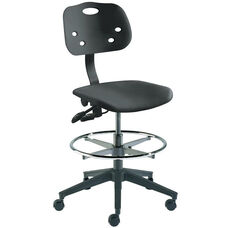 Quick Ship ArmorSeat Series Chair with UV Inhibitor and Reinforced Composite Base - High Seat Height