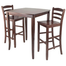 Inglewood 3-Pc Pub Table with 2 Ladder Back Stools