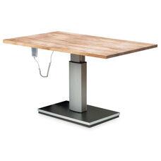 Electric Butcher Black Work Table - Natural Oak Laminate