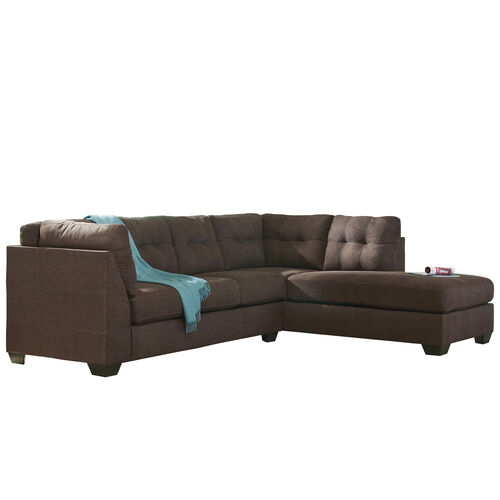 Our Benchcraft Maier Sectional with Right Side Facing Chaise in Walnut Microfiber is on sale now.