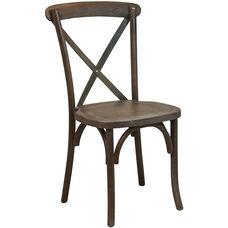 Advantage Dark Driftwood X-Back Chair