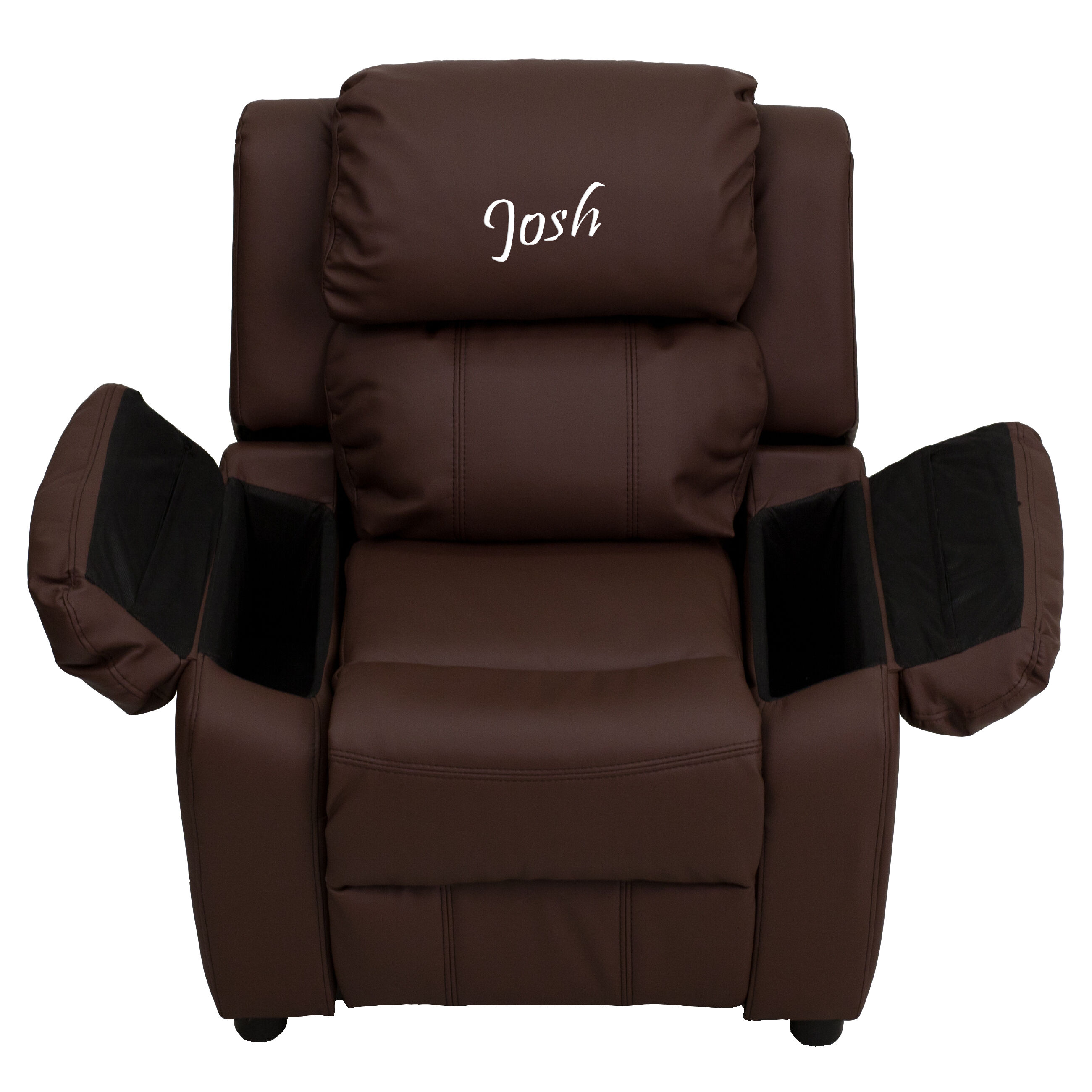 Images. Personalized Deluxe Padded Brown Leather Kids Recliner ...  sc 1 st  Bizchair.com & Flash Furniture BT-7985-KID-BRN-LEA-EMB-GG at Bizchair.com islam-shia.org