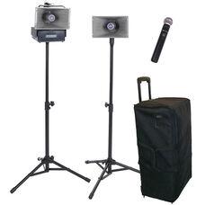 Wireless Half-Mile 50 Watt Hailer Kit with Handheld Microphone - 30