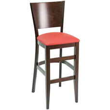 Classic Indoor Collection Beechwood Tapered Solid Back Barstool