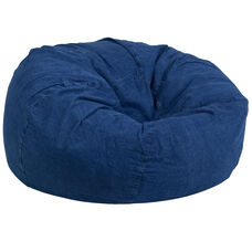 Oversized Denim Kids Bean Bag Chair
