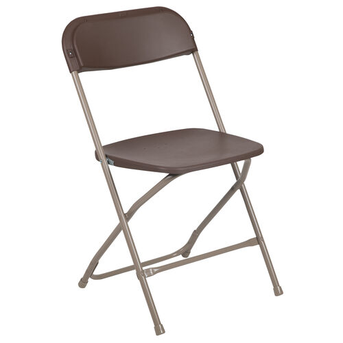 Our HERCULES Series 650 lb. Capacity Premium Brown Plastic Folding Chair is on sale now.