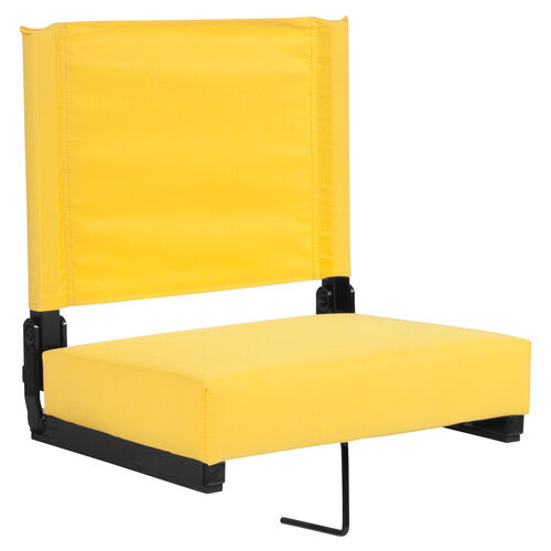 Our Grandstand Comfort Seats by Flash with Ultra-Padded Seat in Yellow is on sale now.