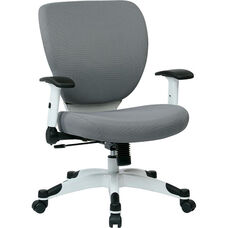 Space Pulsar Fabric Seat and Back Managers Office Chair - Dove Steel