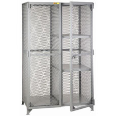 Welded Combination Storage Cabinet With 2 Half Shelves