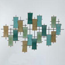 Geometric Rectangular Metal Abstract Wall Mounted Decor