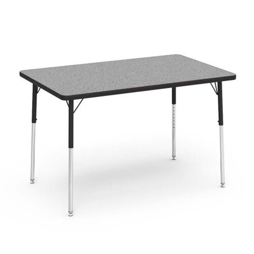 Our 4000 Series Adjustable Height Rectangular Laminate Activity Table with Gray Nebula Top - 30