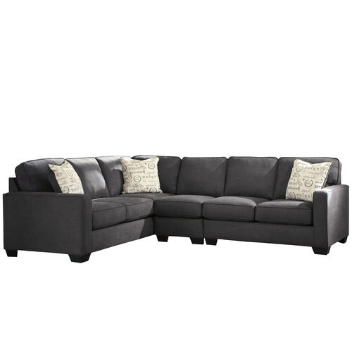 Our Signature Design by Ashley Alenya 3-Piece Left Side Facing Sofa Sectional in Charcoal Microfiber is on sale now.