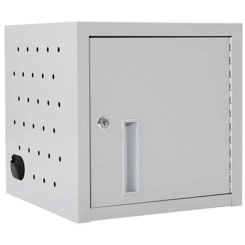 Our Locking Steel 8 Tablet Wall Mounted Charging Box - Gray - 19