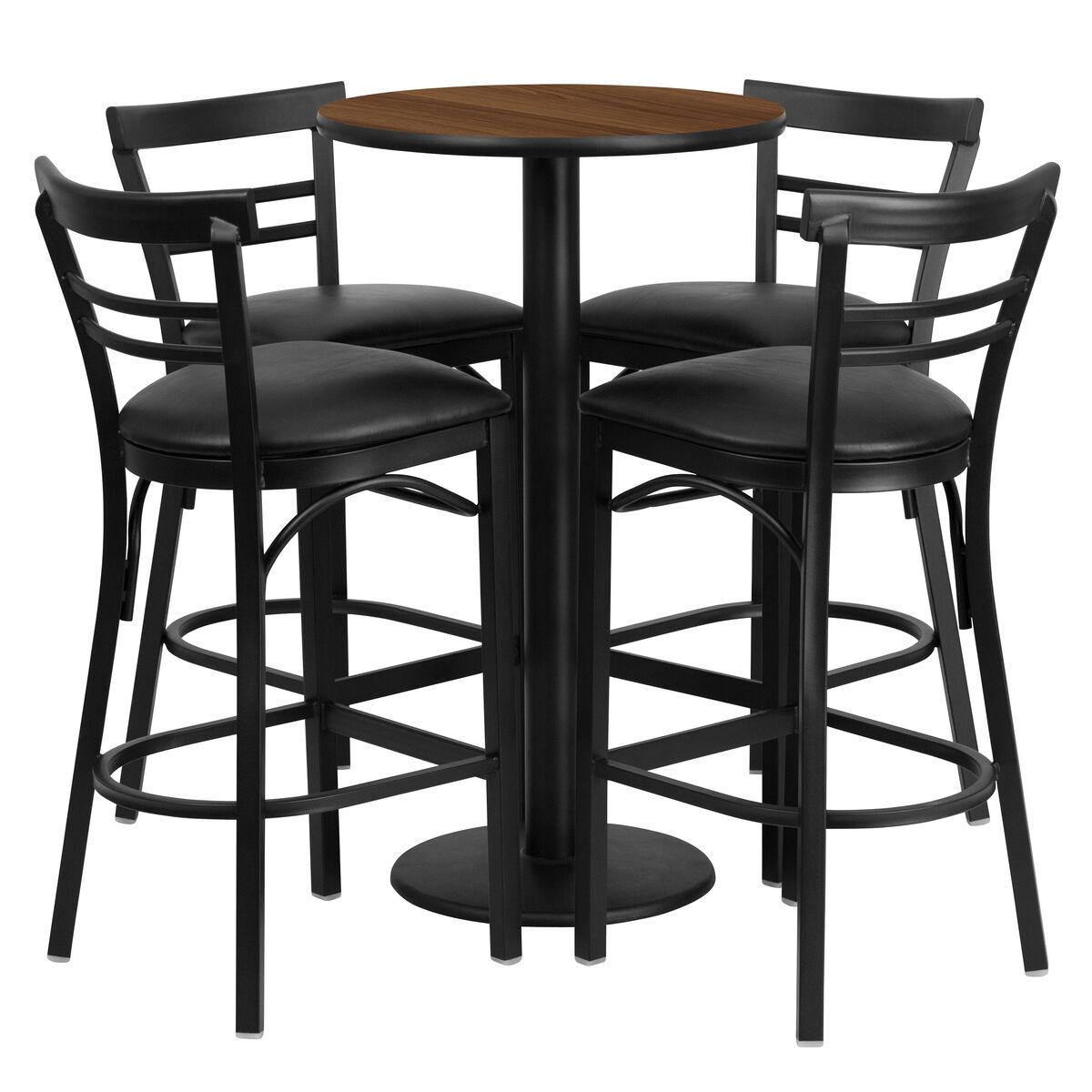 24rd Wa Bar Table Bk Vyl Seat Rest 019 Bk Wal Tdr