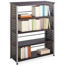 Safco Scoot Contemporary Design 4 Shelf Bookcase - Black