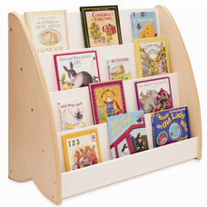 New Wave Book Display with 4 Shelves in Natural Melamine