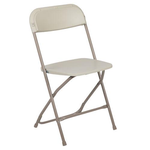 Our HERCULES Series 650 lb. Capacity Premium Beige Plastic Folding Chair is on sale now.