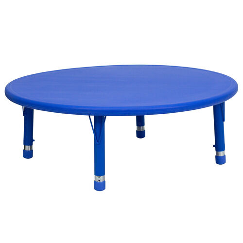 """Our 45"""" Round Plastic Height Adjustable Activity Table is on sale now."""