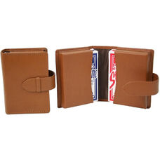 Double Decker Playing Card Set - Sedona New Bonded Leather - Tan